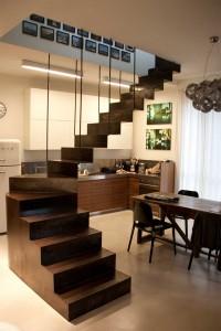 Interior design di appartamento e attico in abitazione privata